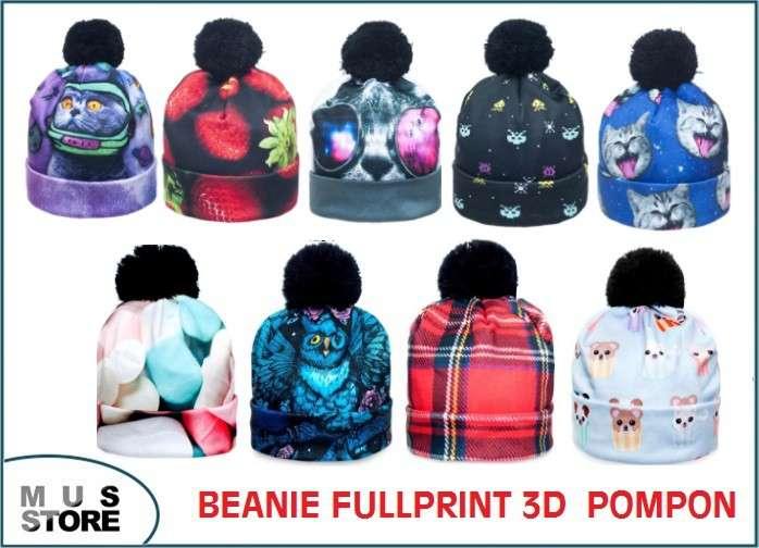 BEANIES FULLPRINT 3D